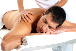 Man receiving relaxing massage